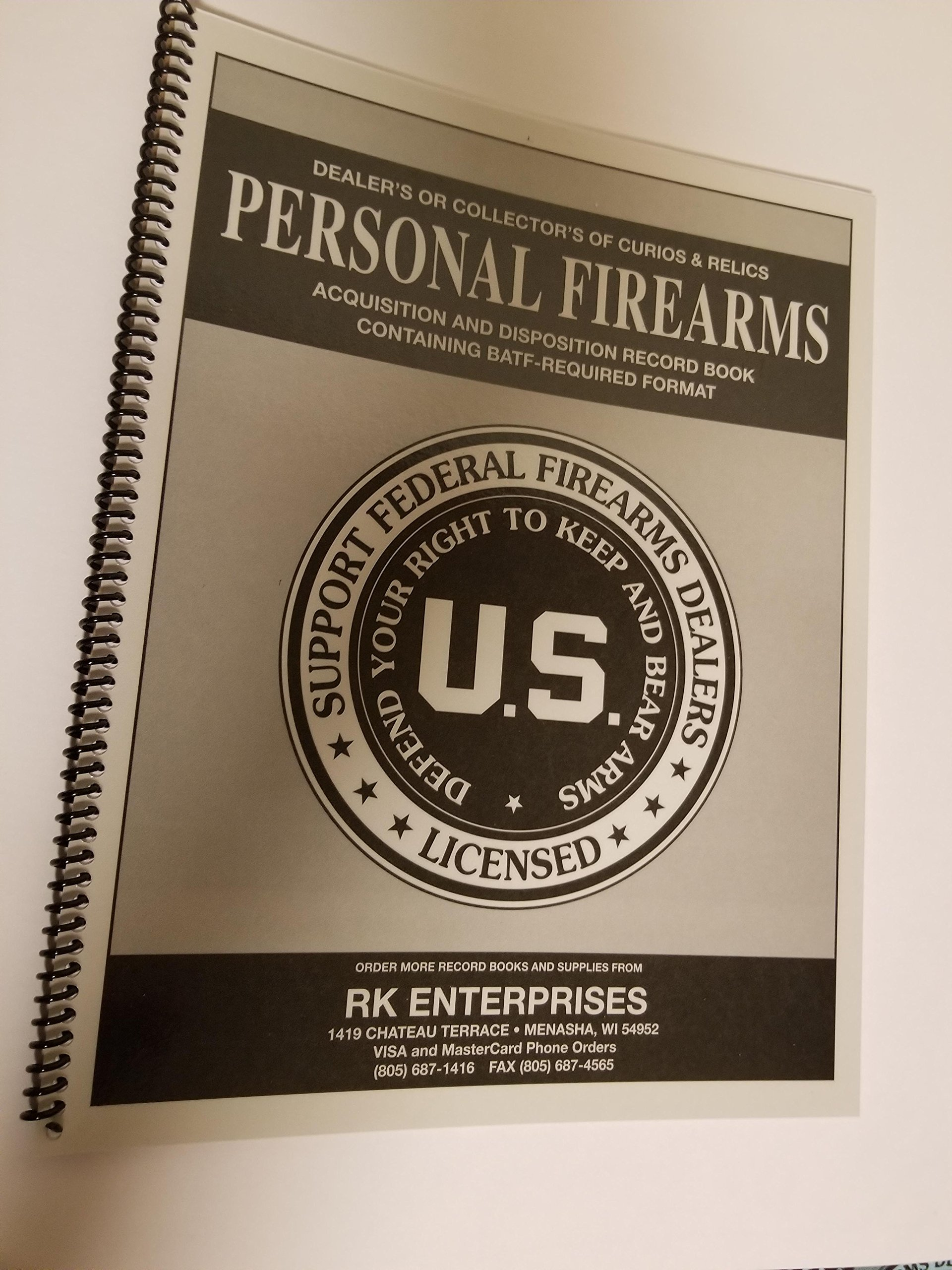 Personal Firearms Record Book (125 Entry)