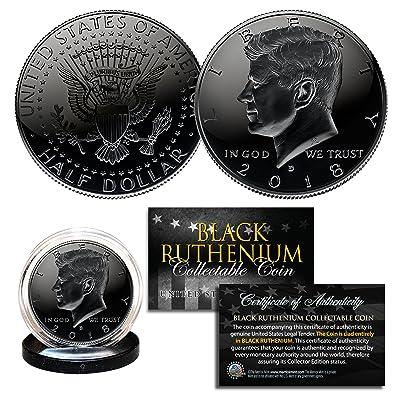 2020 BLACK RUTHENIUM JFK Kennedy Half Dollar U.S. Coin with COA (Denver Mint): Everything Else
