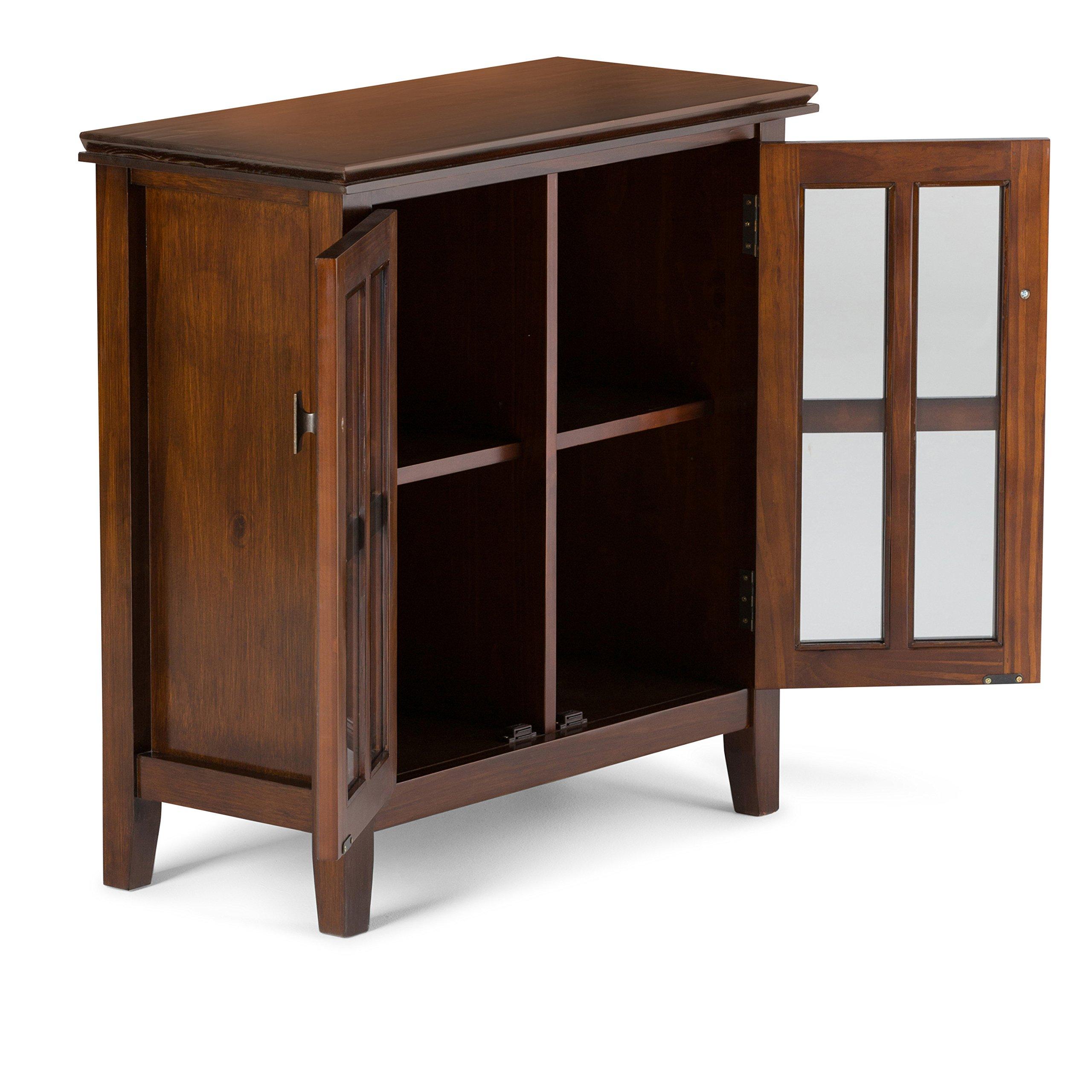 Simpli Home Artisan Solid Wood Low Storage Cabinet, Medium Auburn Brown by Simpli Home (Image #3)