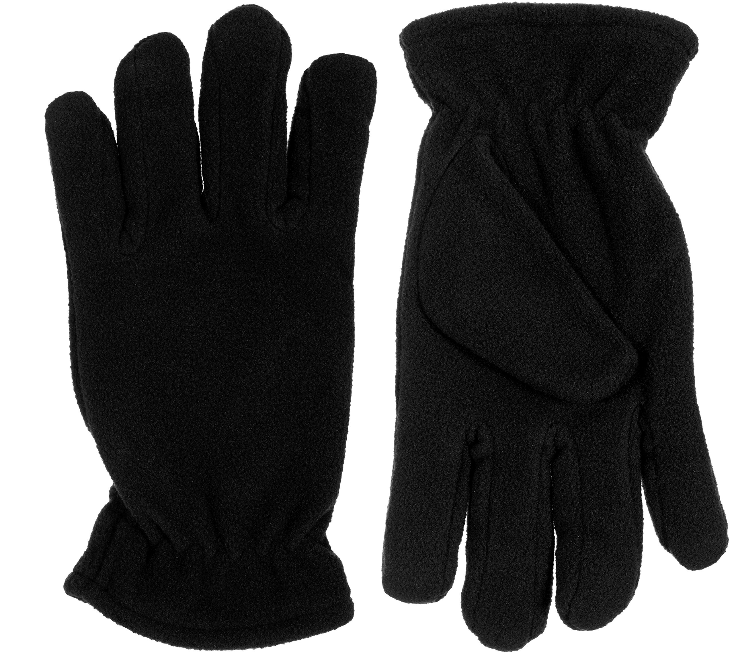 Grand Sierra Girls Soft Fleece Cold Weather Gloves with Micro Fleece Lining (Small, Black)