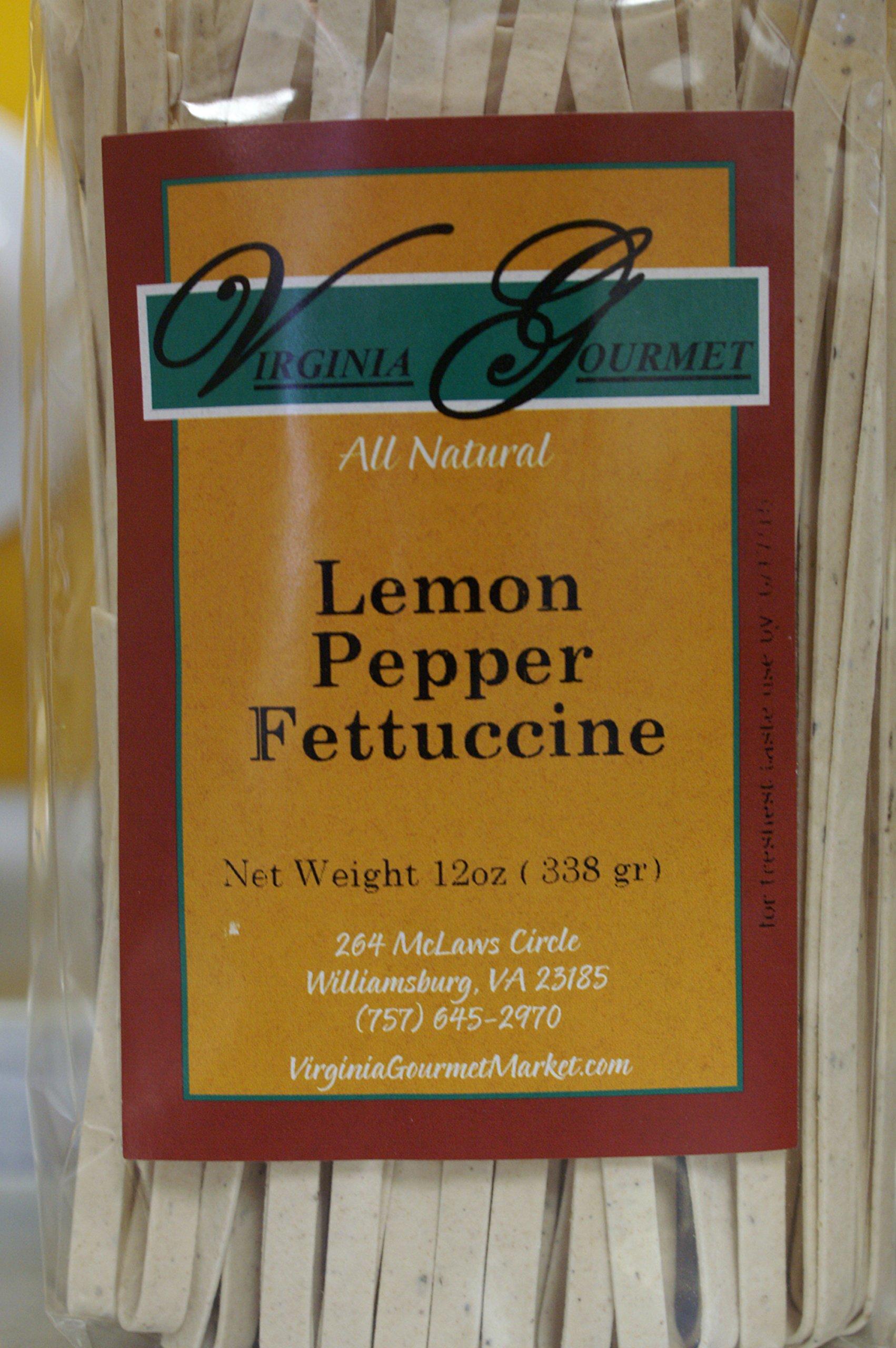 Lemon Pepper Fettuccine Pasta - All Natural Vegan Freshly Handmade
