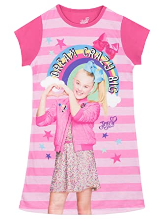 7e0a7876af7f JoJo Siwa Girls JoJo Nightdress Ages 5 to 12 Years: Amazon.co.uk: Clothing