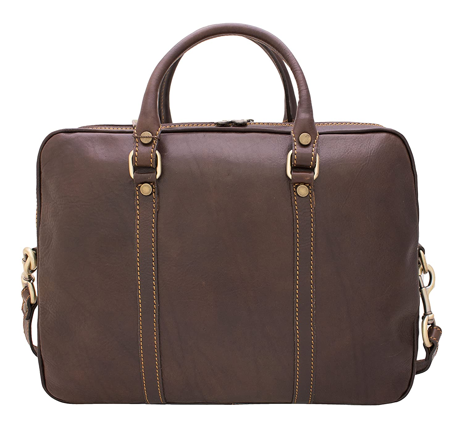 Genuine cowhide leather Dimensions in cm 38 x 9 x 29 DeFeliceBags Leather Professional briefcase//computer bag Sorrento