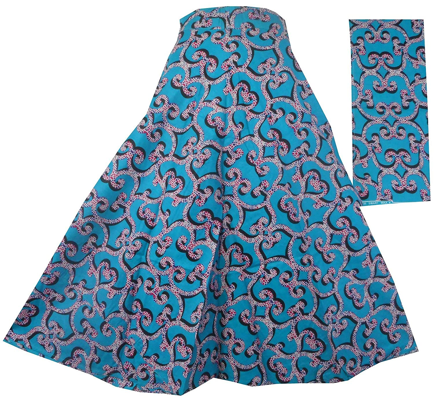 Decoraapparel Fatima Wrap Around Skirt Long Opaque Fully Adjustable Printed Skirt Without Slit