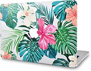 LuvCase Laptop Case for MacBook Air 13 Inch (2020/2019/2018) A2179/A1932 Retina Display (Touch ID) Rubberized Plastic Hard Shell Cover (Tropical Flowers)