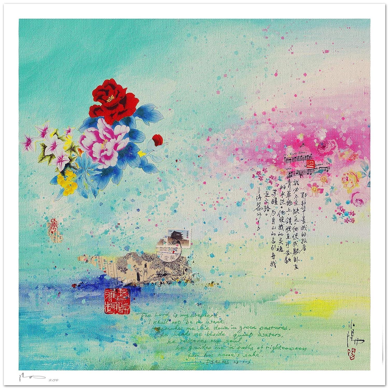 Reproducción de arte - Forever love - sobre papel de acuarela 300g ...