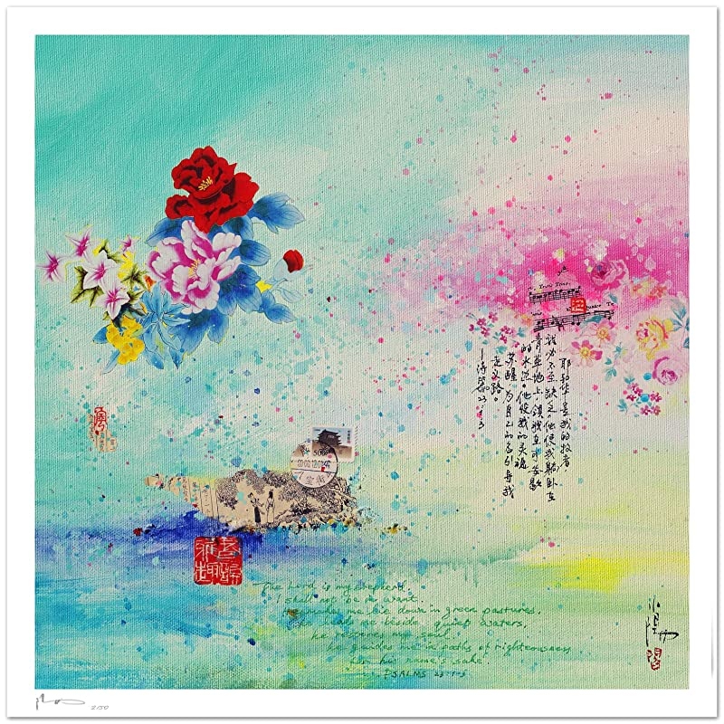 Reproducción de arte - Forever love - sobre papel de acuarela 300g/m² con textura, de alta calidad: Amazon.es: Handmade