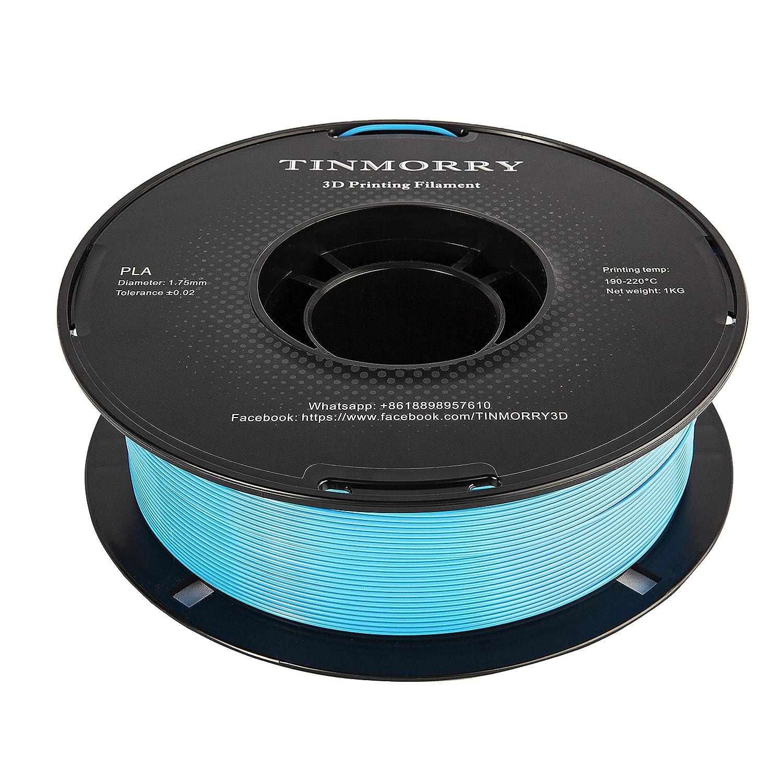 1 Bleu eau 1,75mm TINMORRY Filament 1,75 PLA Imprimante 3D Filament 1 kg