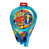 Blue Children's Light Up Glitter Jump Rope with Swivel Handles