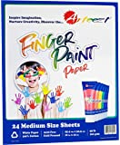 Arteezt Finger Paint Paper Pad – Non-Toxic, Kids Painting and Drawing, Durable Art Supplies – Home and Classroom Early…