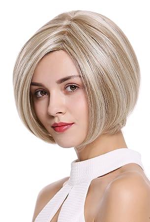 WIG ME UP ® - DW2434A-MF-H16/613 peluca de mujer Bob pelo ...