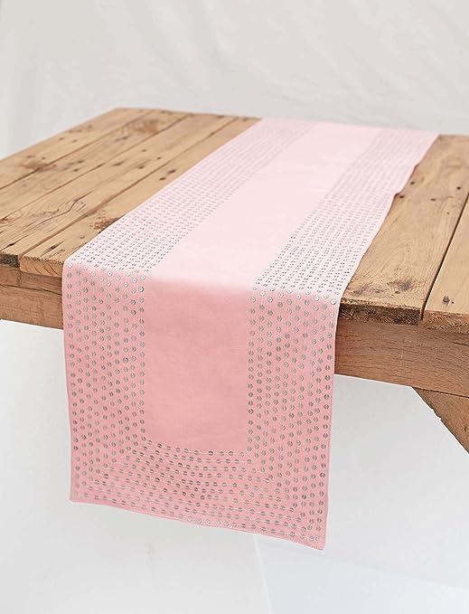 VLiving Plata lentejuelas camino de mesa camino de, rosa ...