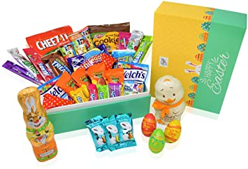 Amazon easter variety snack and chocolate gift pack in happy easter variety snack and chocolate gift pack in happy easter gift box green negle Choice Image