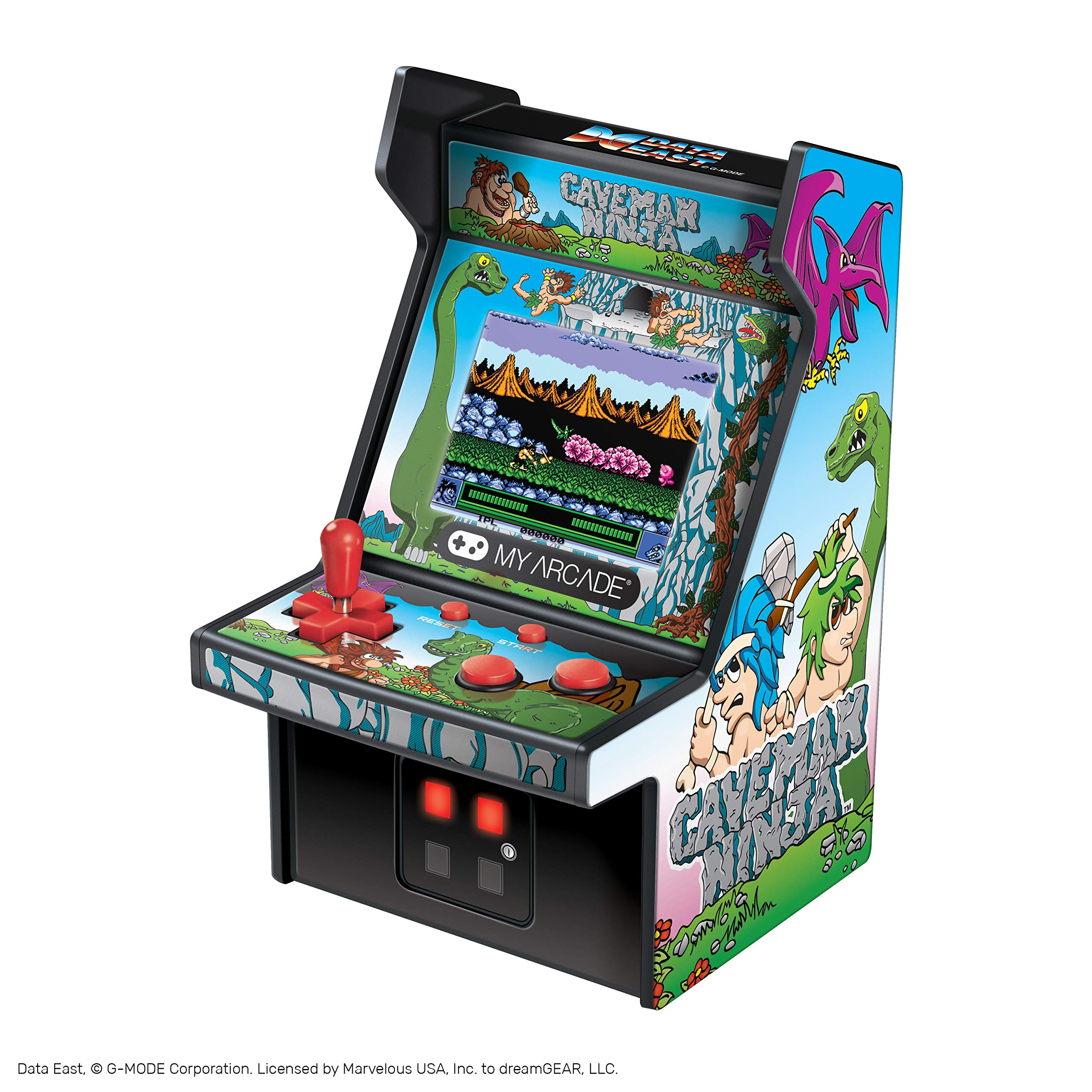 My Arcade Micro Arcade 6'' Collectable Retro Arcade Machine - CaveMan Ninja: Joe & Mac