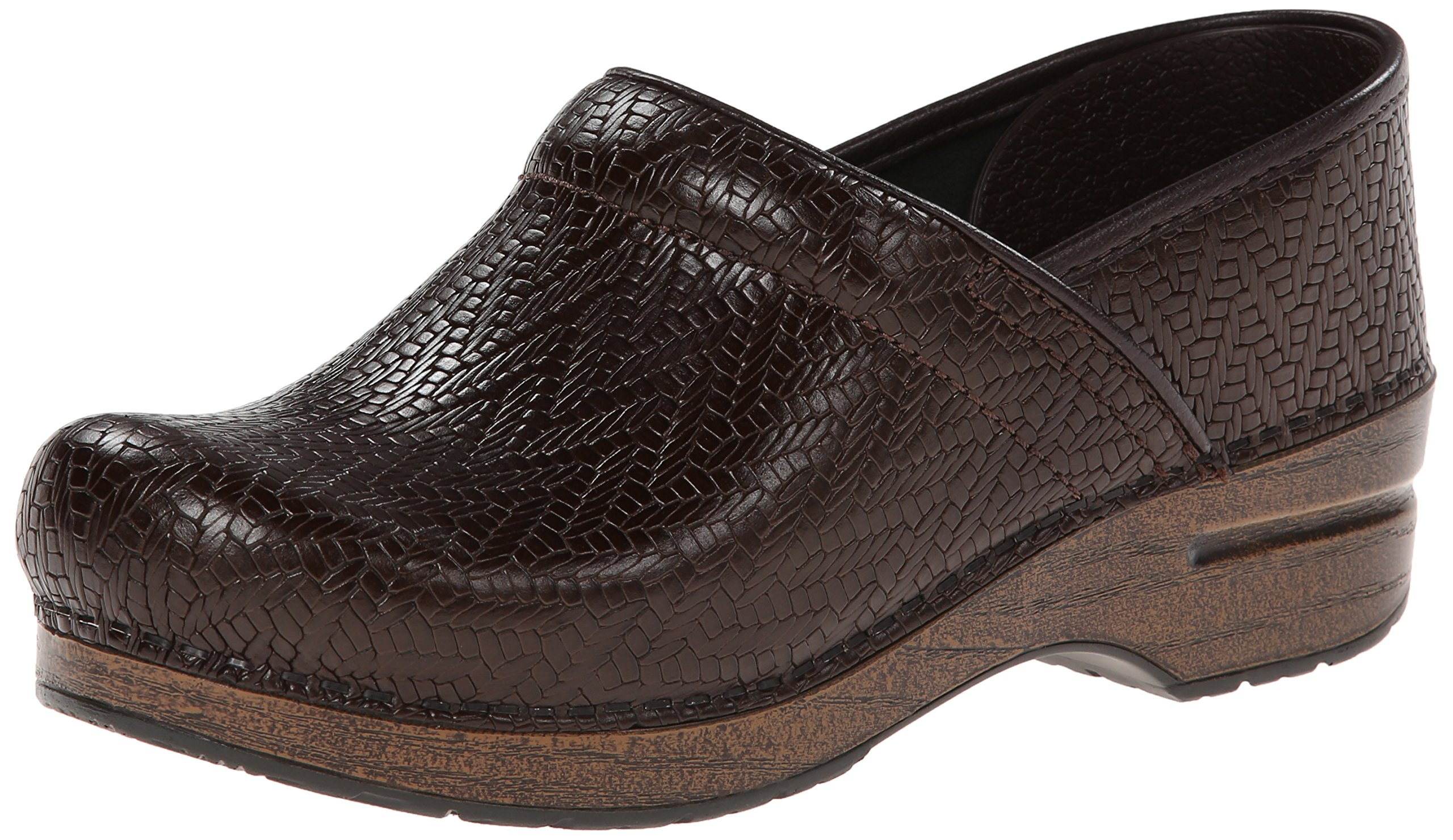 Dansko Women's Professional Mule, Brown Woven, 37 EU/6.5-7 M US