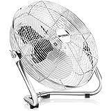 Brandson - Ventilador de mesa 30 cm   máquina de viento   3 niveles de potencia   potencia 48 W   diseño retro   metal / cromo