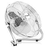 Brandson - Ventilador de mesa 50 cm | máquina de viento | 3 niveles de potencia | potencia 120 W | diseño retro | metal / cromo