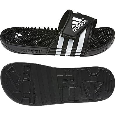 05767e2a71366 adidas Girls' Adissage Beach and Pool Shoes, Black (Negro/Negro ...