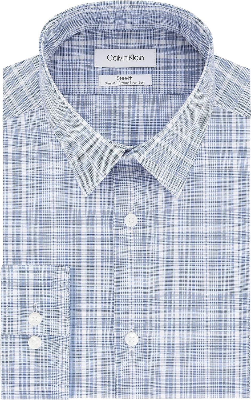 Calvin Klein Non Iron Stretch Camisa de Vestir, Terciopelo ...