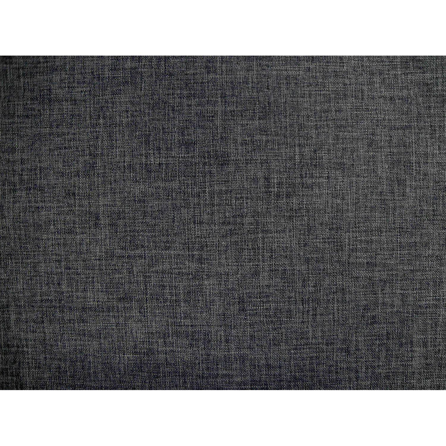 Umax Linen Texture Gray Futon Cover Full Size, Proudly Made in USA by DCG Stores