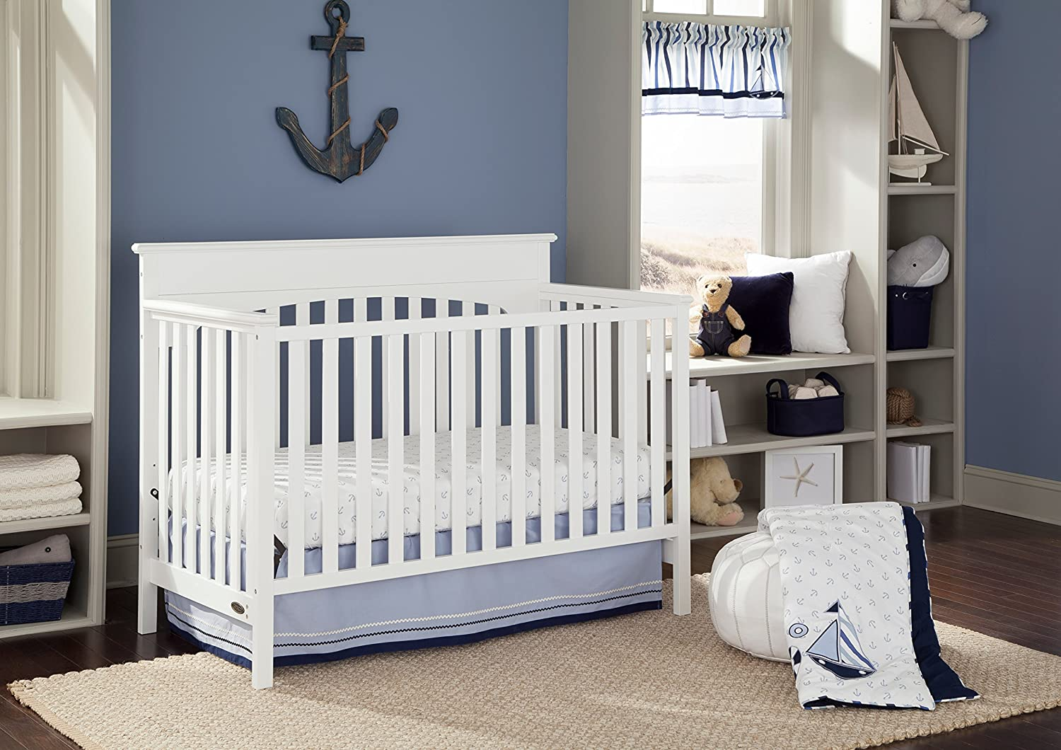 in dp amazon baby cribs convertible whitewash crib lauren signature graco com