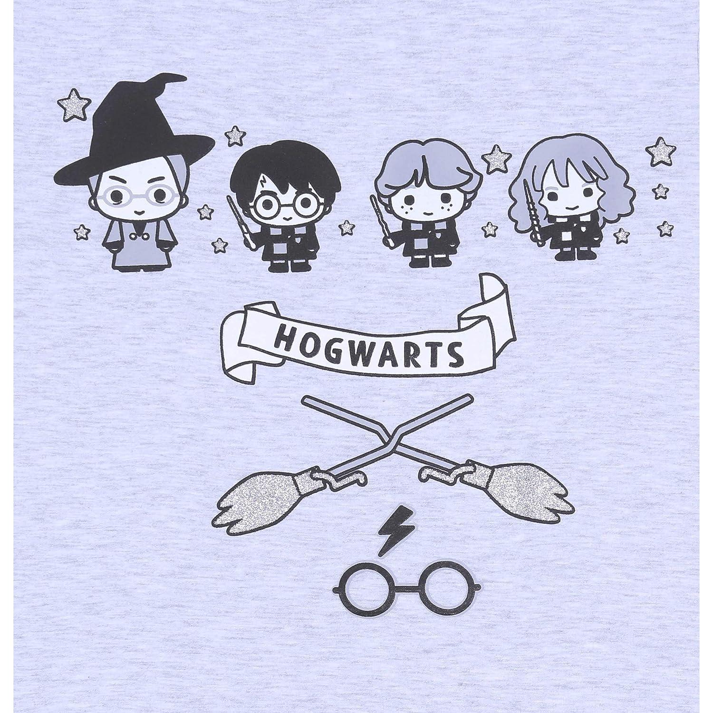 S Pigiama Grigio Nero con Stelle Harry Potter