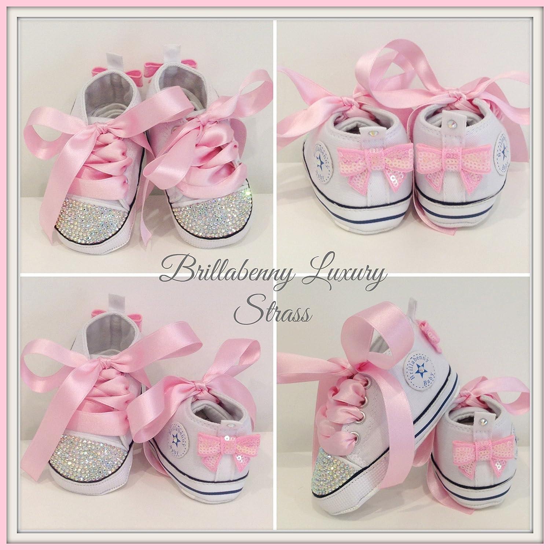 6f99cba8395b2 BrillaBenny Scarpine Scarpe Strass Bimba Neonato 0-3 Mesi Bianche Baby  Shoes White Birthday Party Events Wedding Gift Rhinestone Crystal AB  Luxury  ...