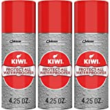 KIWI Shoe Waterproofer | Water Repellant for Shoes, Boots, Coats, Accessories and More | Spray Bottle | 4.25 Oz | Pack of 3
