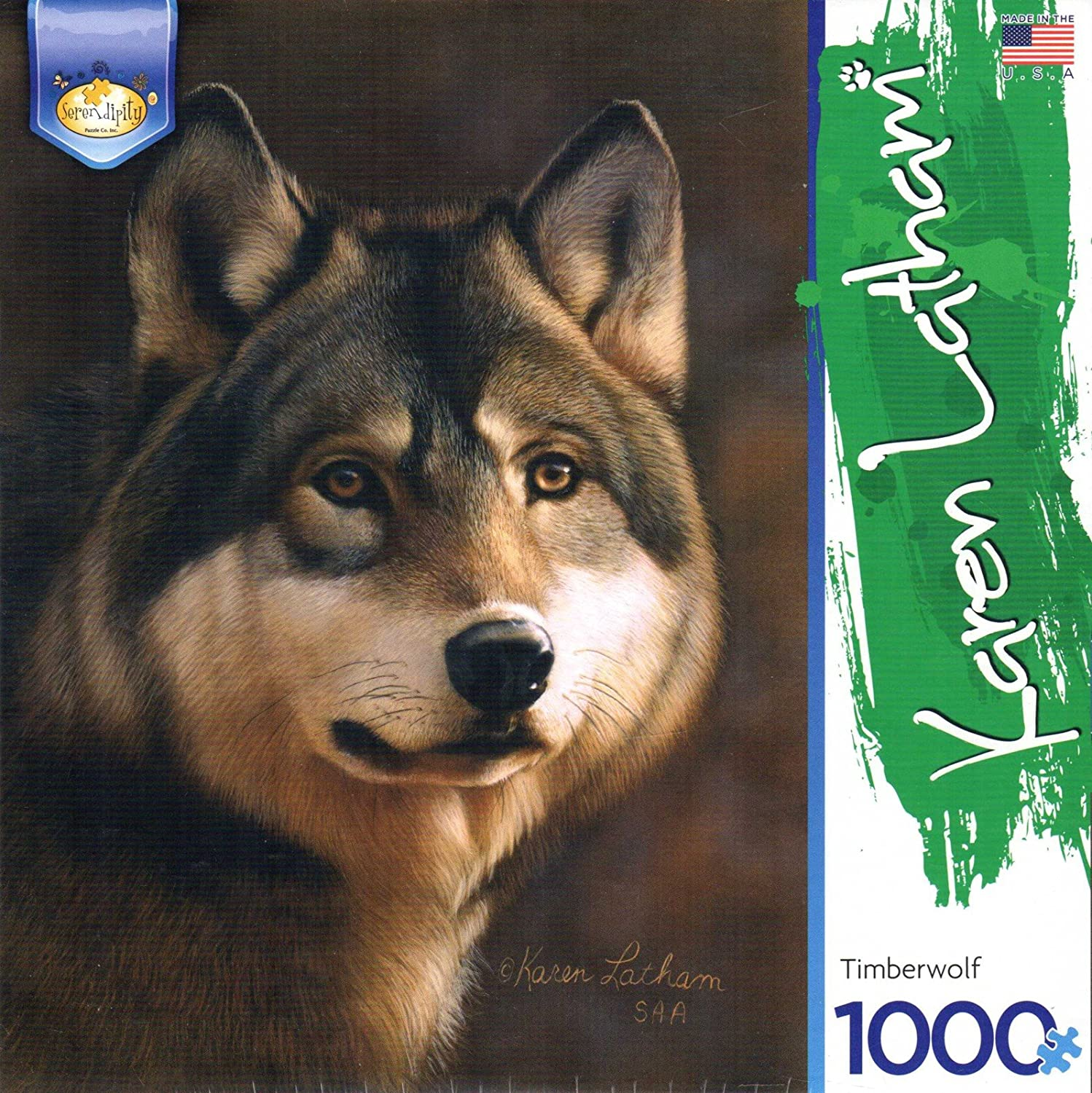 Timberwolf by Serendipity Puzzle Co. Jigsaw Puzzle 1000 Pieces 17.25x26.5