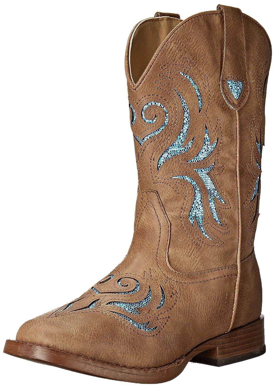 Roper ' Glitter Breeze Western Boot B01ETEUZTS 6 M US Toddler|Tan