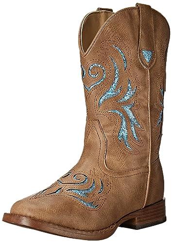 d2f4e2827 ROPER Girls' Glitter Breeze Western Boot, Tan, 10 M US Toddler/Little