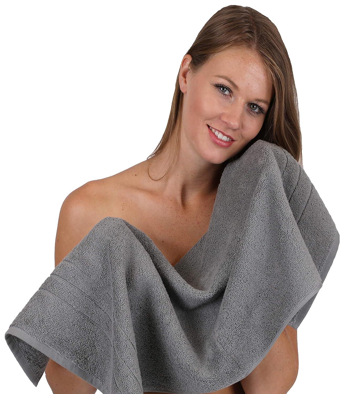 Betz 8-TLG. Handtuch-Set Deluxe 100% Baumwolle 2 2 2 Badetücher 2 Duschtücher 2 Handtücher 2 Seiftücher Farbe anthrazit und Creme beige B012X3GYRE Sets 236187