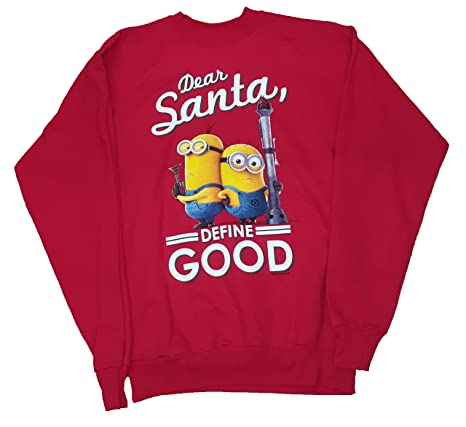 Christmas Minions Dear Santa, Define Good Red Sweatshirt at Amazon ...