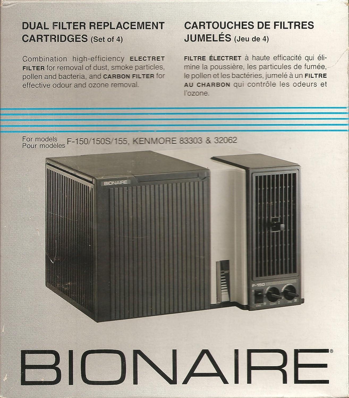 Bionaire 1511d Filtro HEPA Dual Cartuchos de repuesto para F150 ...