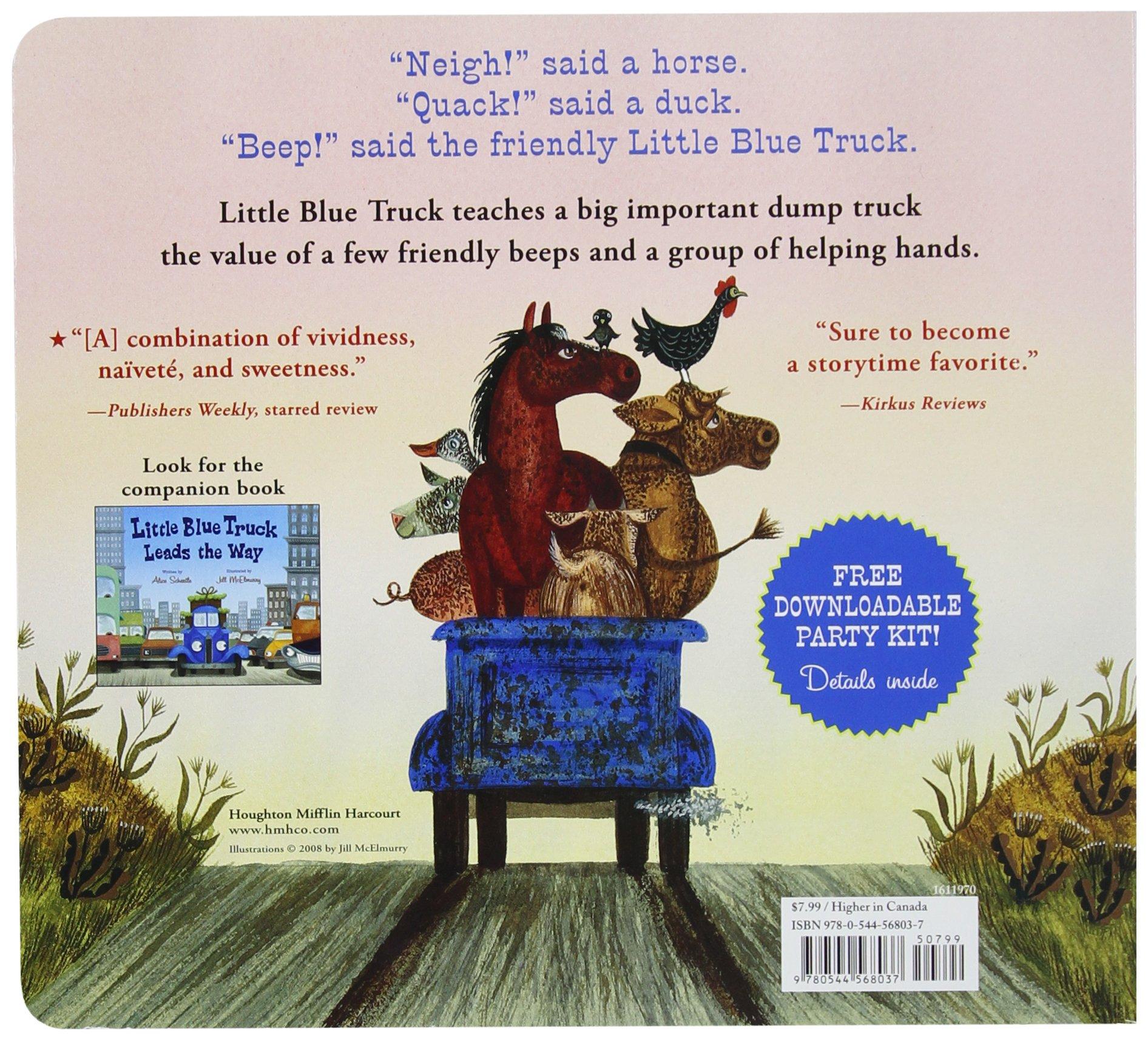 little blue truck board book alice schertle jill mcelmurry