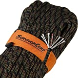 620 LB SurvivorCord | The Original Patented Type III Military 550 Paracord/Parachute Cord with Integrated Fishing Line…