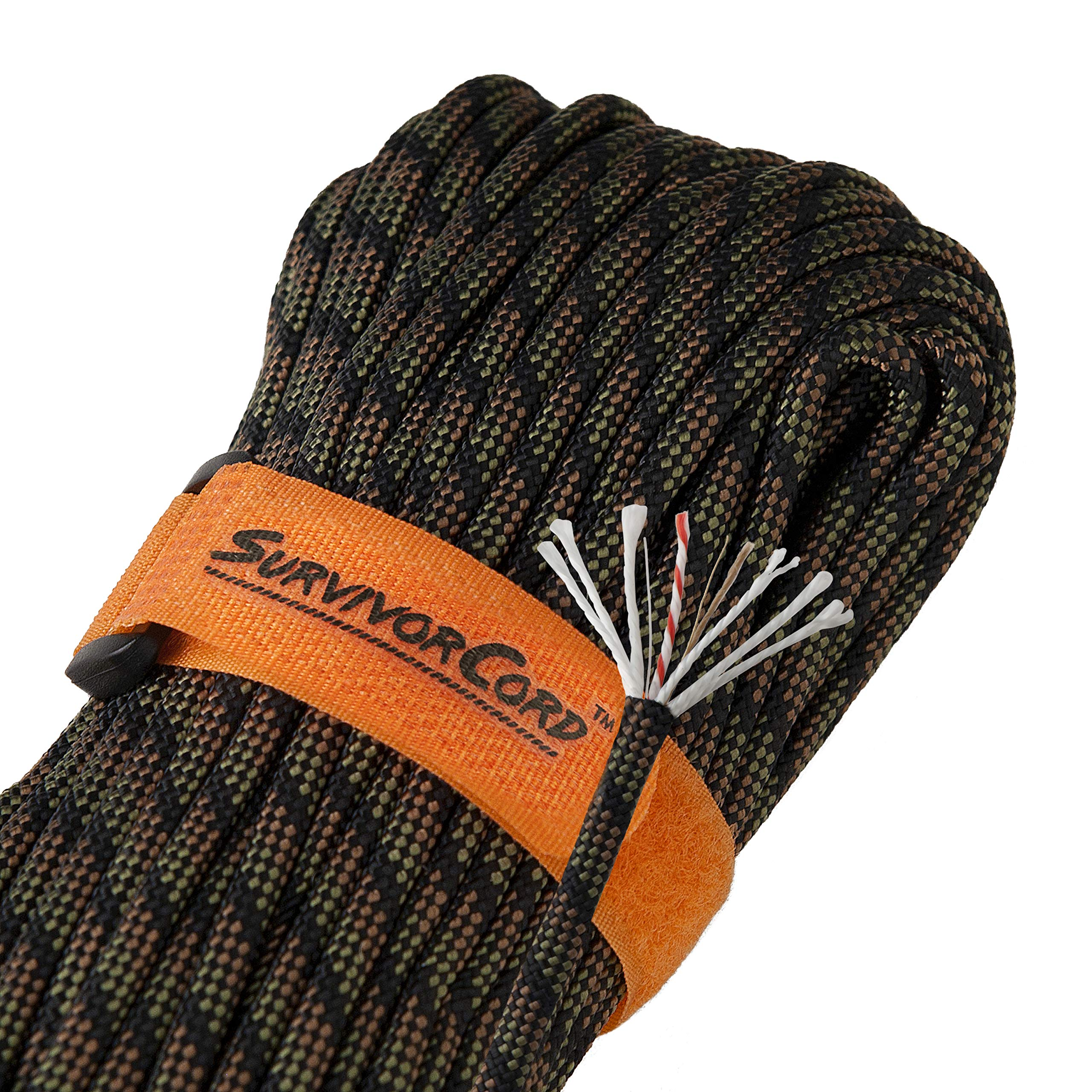 Titan SurvivorCord | DRAGONSCALE | 103 Feet | Patented Military Type III 550 Paracord/Parachute Cord (3/16'' Diameter) with Integrated Fishing Line, Fire-Starter, and Utility Wire.
