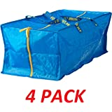 Ikea 901.491.48 Frakta Storage Bag, Blue, 4 Pack