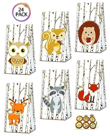 Amazon.com: QMZ Woodland - Bolsas de regalo con pegatinas ...