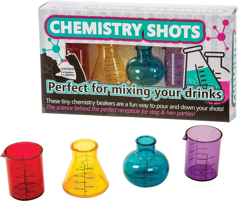 Funtime Gifts Plastic Glasses Chemistry Shots 6.2 x 25 x 14 cm Multi-Colour