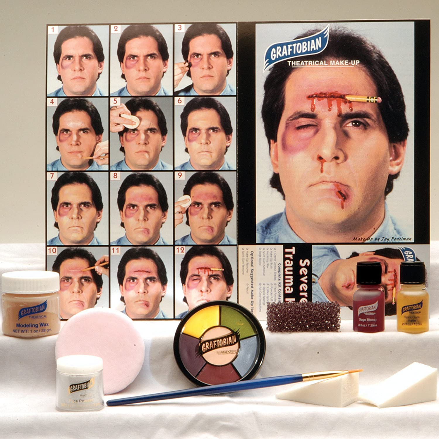 Graftobian 181575 Severe Trauma Makeup Kit 049625888549