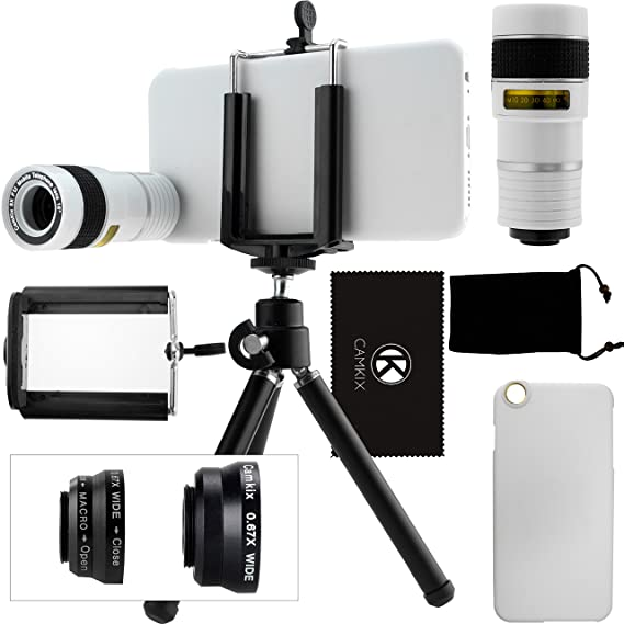 the latest f6547 f5b80 CamKix Camera Lens Kit Compatible with iPhone 6 / 6S (NOT Suitable for  iPhone 6 / 6S Plus) - Including 8X Telephoto/Fisheye / 2in1 Macro & Wide  Angle ...