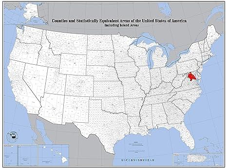 Amazon.com: Home Comforts Laminated Map - Washington Dc Us Map ...