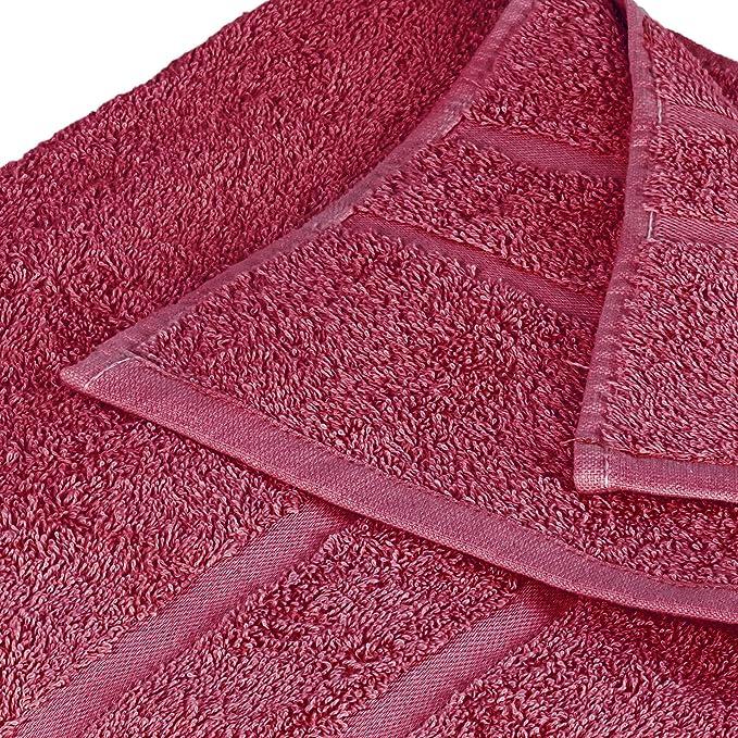 StickandShine 4er Set Premium Frottee Waschhandschuh 15x21 cm in Bordeaux in 500g//m/² aus 100/% Baumwolle /Öko-TEX Standard 100 Materialien