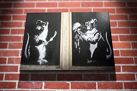 Graffiti street art Banksy Welder Rats