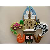 New Orleans Fleur De Lis Scenery Christmas Ornament with Free Drawstring Pouch/ Bag