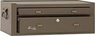 """product image for Kennedy Manufacturing MC22B 2-Drawer Machinist's Steel Tool Storage Chest Base with Friction Slides, 21"""", Brown Wrinkle"""