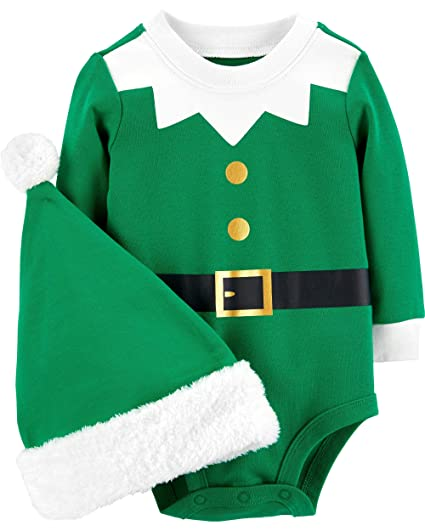 f232035f1 Amazon.com  Carter s Baby 2-Piece Santa Bodysuit and Hat Set  Clothing