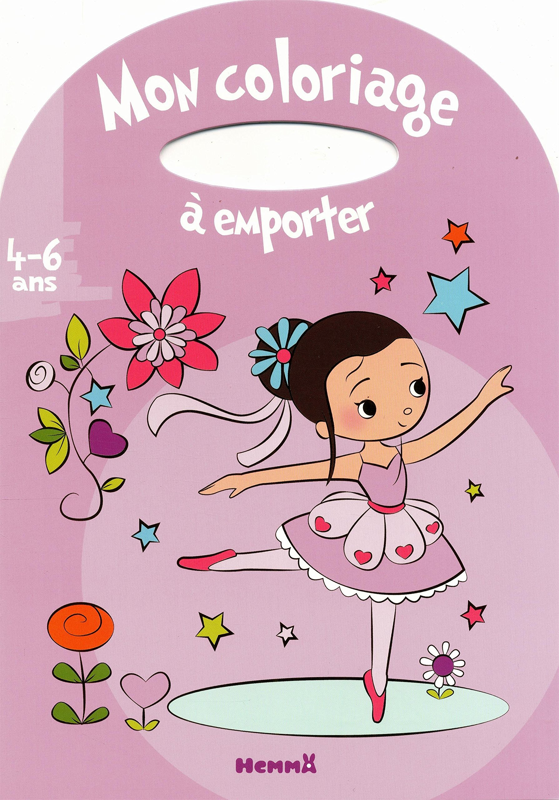 Amazon Mon coloriage  emporter 4 6 ans fille Estelle Madeddu Livres