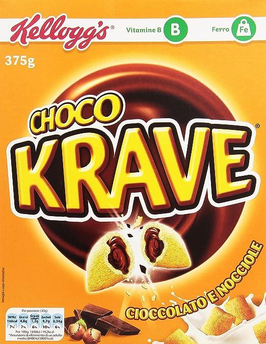 7 opinioni per Kellogg's- Cereali, al Cioccolato, Vitamine B, Ferro- 375 g